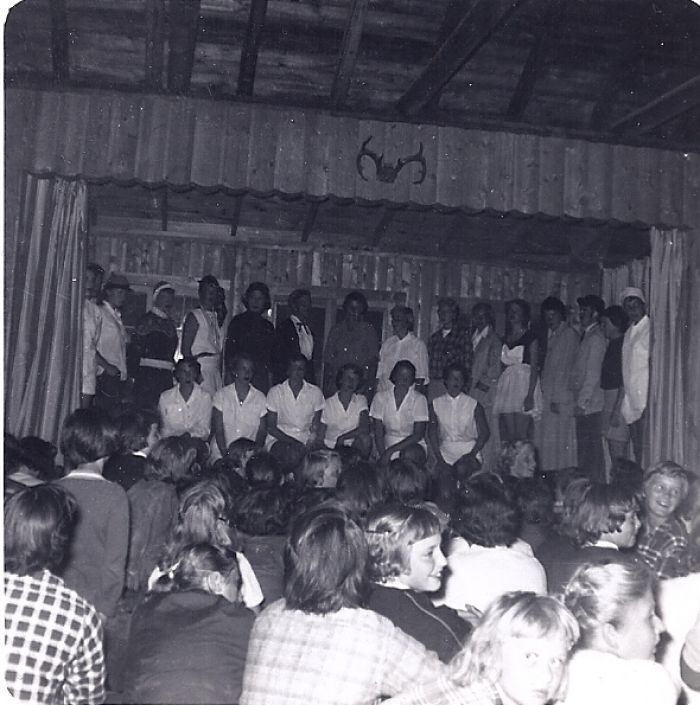 Counselor skit, 1954